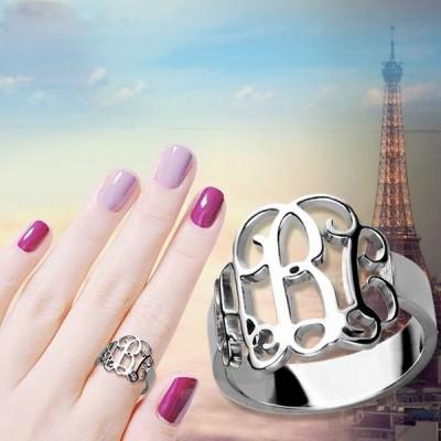 Personalised Silver Monogram Ring - The Handmade ™