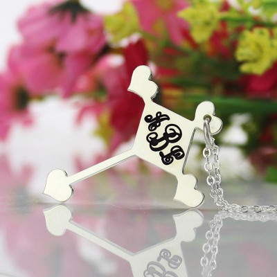Silver Cross Monogram Necklace - The Handmade ™