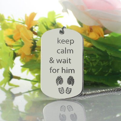 Cute His and Hers Dog Tag Necklaces Silver - The Handmade ™