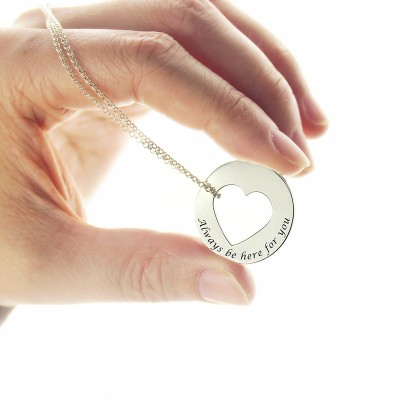 Promise Necklace For Her Silver - The Handmade ™