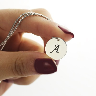 Initial Discs Necklace Silver - The Handmade ™