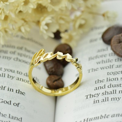 Carrie Name Rings Gold - The Handmade ™