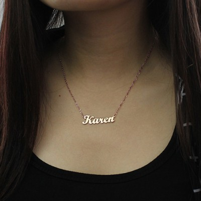 Rose Gold Karen Style Name Necklace - The Handmade ™