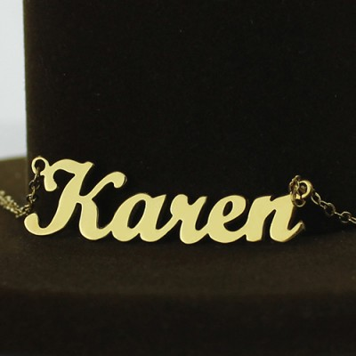 Gold Karen Style Name Necklace - The Handmade ™