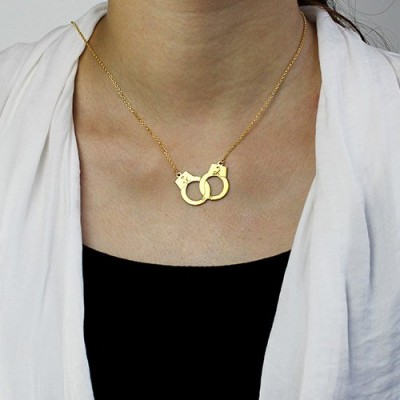 Handcuff Necklace Gold - The Handmade ™