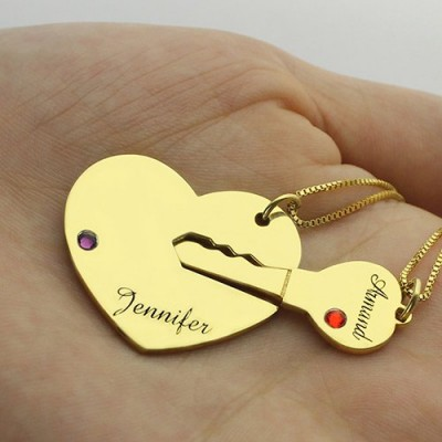 Key to My Heart Couple Name Pendant Necklaces Gold - The Handmade ™