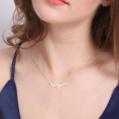 Carrie Name Necklace Silver - The Handmade ™