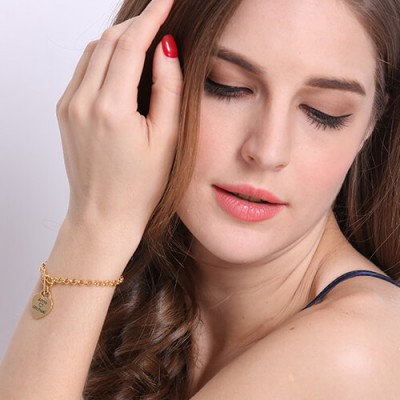 Heart Name Bracelets Gold - The Handmade ™