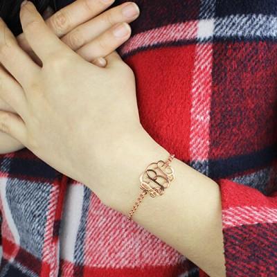 Rose Monogram Bracelet - The Handmade ™