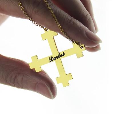 Julian Cross Name Necklaces Troubadour Cross - The Handmade ™