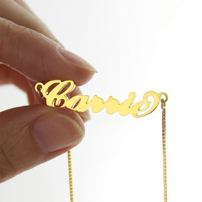 Gold Sex and The City Carrie Name Necklace Box Chain - The Handmade ™