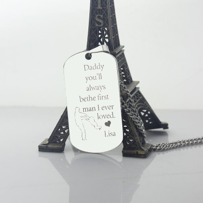 Father's Love Dog Tag Name Necklace - The Handmade ™