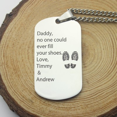Father' Day Gift Dog Tag Name Necklace - The Handmade ™