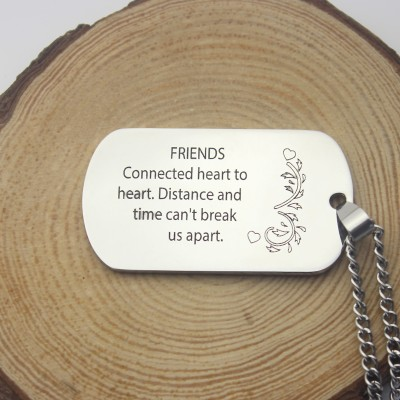 Best Friends Dog Tag Name Necklace - The Handmade ™