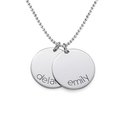 Engraved Kids Disc Necklace - The Handmade ™
