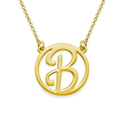 Gold Cut Out Initial Necklace - The Handmade ™