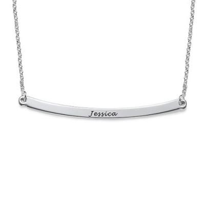 Horizontal Silver Bar Necklace - The Handmade ™