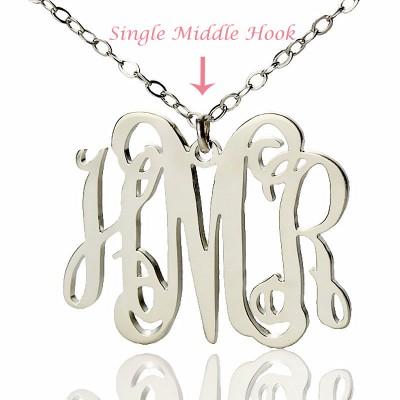 Alexis Bellino Style Monogram Necklace White Gold - The Handmade ™