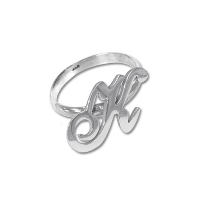 Initial Ring in Silver - The Handmade ™