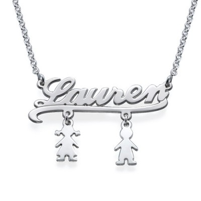 Mummy Name Necklace with Kids Charms - The Handmade ™
