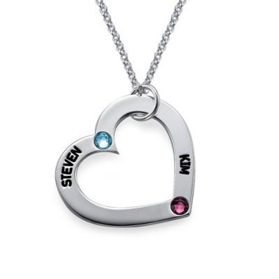 Mum's Birthstone Heart Necklace - The Handmade ™