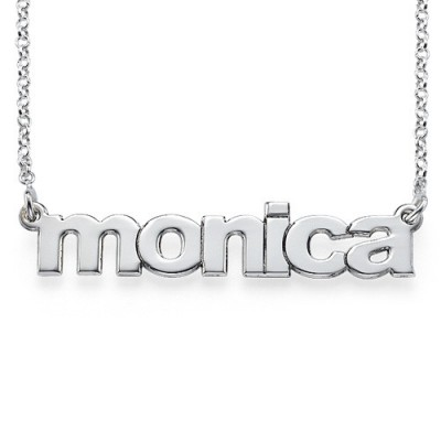 Nameplate Necklace in Lowercase Font - The Handmade ™