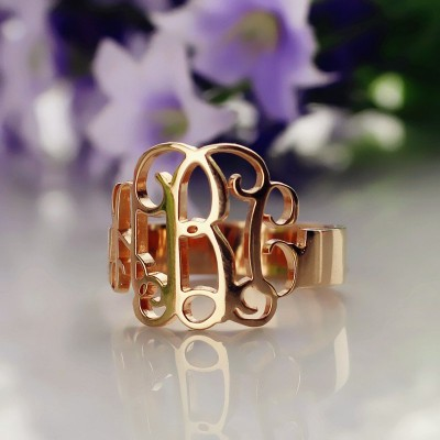 Personalised Rose Gold Monogram Ring - The Handmade ™