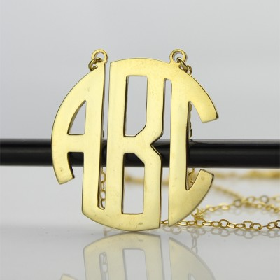 Gold 2 Letters Capital Monogram Necklace - The Handmade ™