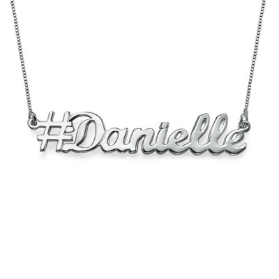 Silver Hashtag Necklace - The Handmade ™
