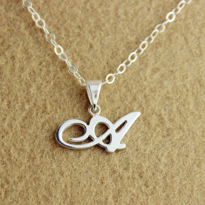 Silver Letter Necklace - The Handmade ™