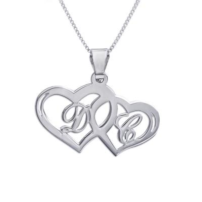 Silver Couples Hearts Pendant - The Handmade ™