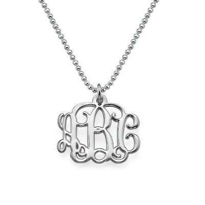 Small Silver Monogram Necklace - Smaller Version - The Handmade ™