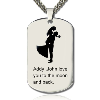 Couple Love Dog Tag Name Necklace - The Handmade ™