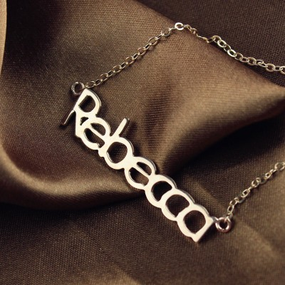 Rose Gold Rebecca Style Name Necklace - The Handmade ™
