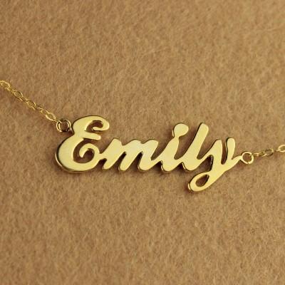 Cursive Script Name Necklace Gold - The Handmade ™