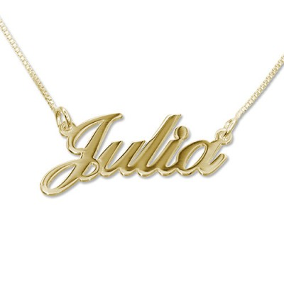 Small Classic Name Necklace In Silver or Gold - The Handmade ™