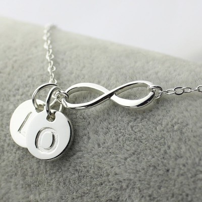 Infinity Initial Necklace,Sister Necklace,Friend Necklace - The Handmade ™