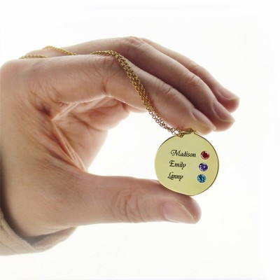 Disc Necklace Engraved Names For Mom - The Handmade ™