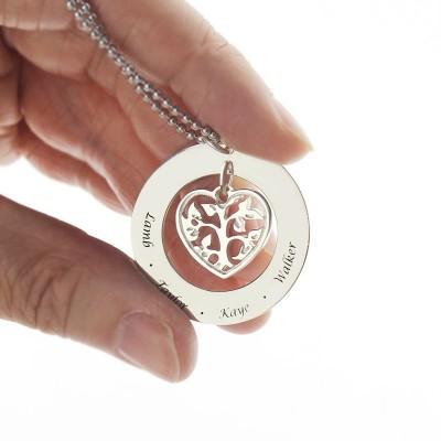 Heart Family Tree Necklace Silver - The Handmade ™