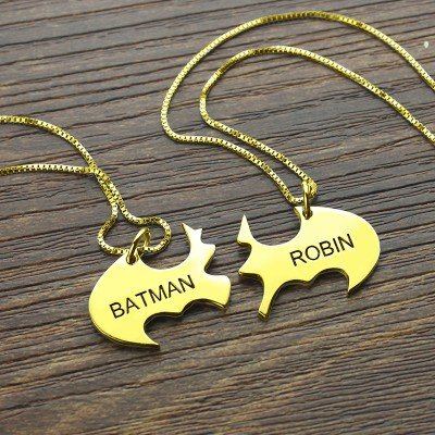 Puzzle Friend Name Necklace Gold - The Handmade ™
