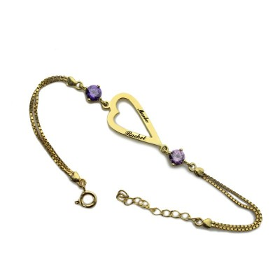 Open Heart Love Necklace Bracelet Engraved Name - The Handmade ™