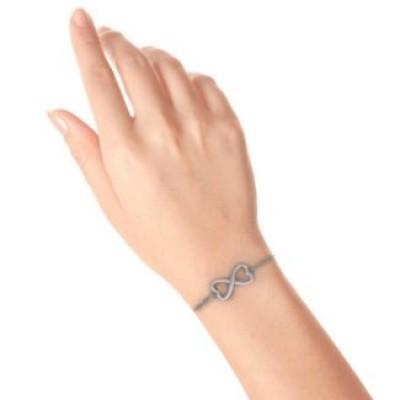 Double Heart Infinity Bracelet - The Handmade ™