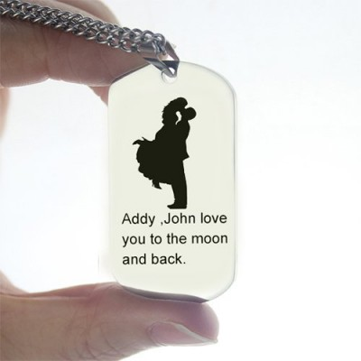 Faill In Love Couple Name Dog Tag Necklace - The Handmade ™
