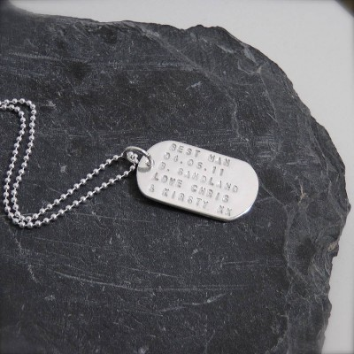 Personalised Silver Identity Dog Tags - The Handmade ™