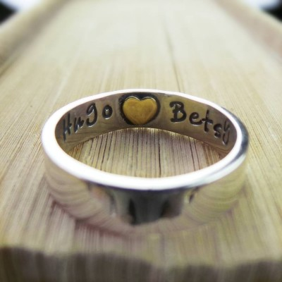 Heart Imprint Personalised Ring - The Handmade ™