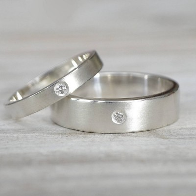 His And Hers Silver Wedding Rings - The Handmade ™