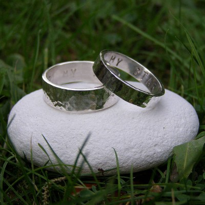 Personalised His And Hers Rings - The Handmade ™