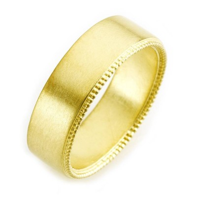 Mens Decorated Wedding Ring In Gold - The Handmade ™