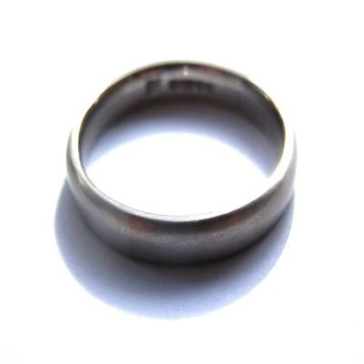 Mens White Gold Wedding Ring - The Handmade ™