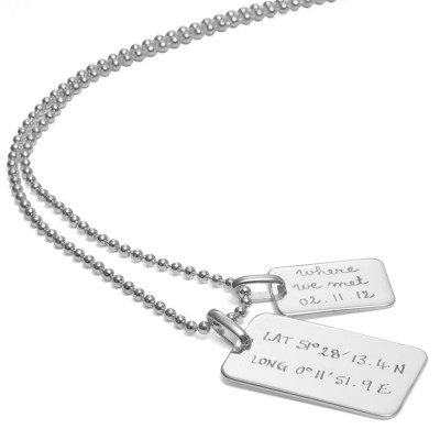 Mens Dog Tag Chain Necklace - The Handmade ™